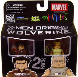 Marvel MiniMates Series 26 Mini Figure 2-Pack Wolverine & Blob