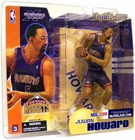 McFarlane Toys NBA Sports Picks Series 3 Action Figure Juwan Howard (Denver Nuggets) Blue Jersey