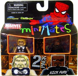 Marvel MiniMates Series 27 Mini Figure 2-Pack Ultimate Thor & Nick Fury