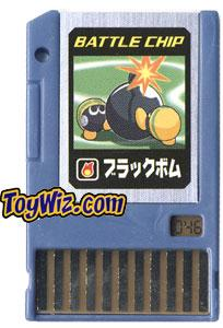 Mega Man Japanese Battle Chip #046 Black Bomb Works with American PET!