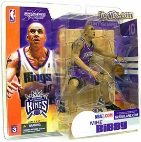 McFarlane Toys NBA Sports Picks Series 3 Action Figure Mike Bibby (Sacramento Kings) Purple Jersey Variant