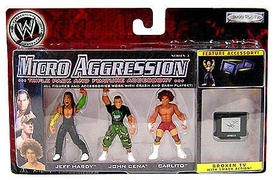 WWE Wrestling Micro Aggression Series 3 Figure 3-Pack Jeff Hardy, John Cena & Carlito