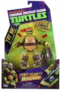 Nickelodeon Teenage Mutant Ninja Turtles Action Figure Power Sound FX Michelangelo