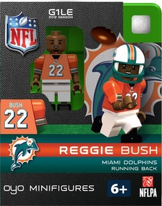 OYO Football NFL Building Brick Minifigure Reggie Bush [Miami Dolphins]