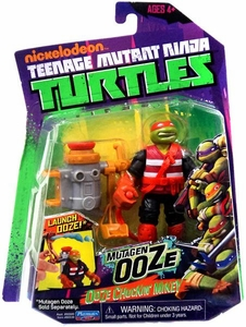 Nickelodeon Teenage Mutant Ninja Turtles Action Figure Ooze Chuckin' Mikey