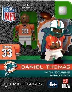 OYO Football NFL Building Brick Minifigure Daniel Thomas [Miami Dolphins]