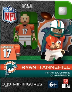 OYO Football NFL Building Brick Minifigure Ryan Tannehill [Miami Dolphins]