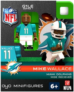 OYO Football NFL Building Brick Minifigure Mike Wallace [Miami Dolphins]