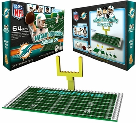 OYO Football NFL Generation 1 Team Field Endzone Set Miami Dolphins