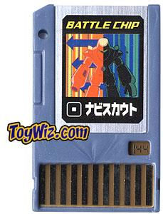 Mega Man Japanese Battle Chip #144 Navi Scout Works with American PET!