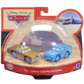 Disney / Pixar CARS Movie Exclusive Wood Collection 2-Pack Tex & Dinoco Lightning McQueen