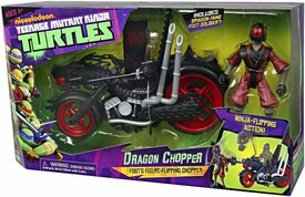 Nickelodeon Teenage Mutant Ninja Turtles Deluxe Vehicle Dragon Chopper with Dragon Fang Foot Soldier Action Figure