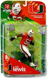 McFarlane Toys NCAA COLLEGE Football Sports Picks Series 1 Action Figure Ray Lewis (Miami Hurricanes)