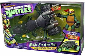 Nickelodeon Teenage Mutant Ninja Turtles Deluxe Vehicle Ninja Stealth Bike with Stealth Ninja Raph Action Figure