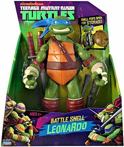 Nickelodeon Teenage Mutant Ninja Turtles 11 Inch Action Figure Battle Shell Leonardo