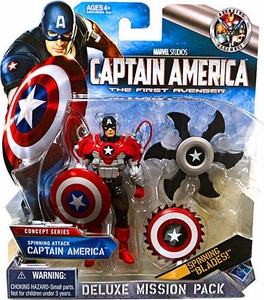 Captain America Movie Deluxe Mission Pack Spinning Attack Captain America