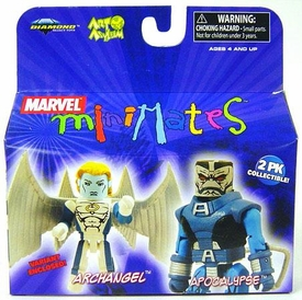 Marvel MiniMates Series 19 Mini Figure 2-Pack Apocalypse & Variant Archangel