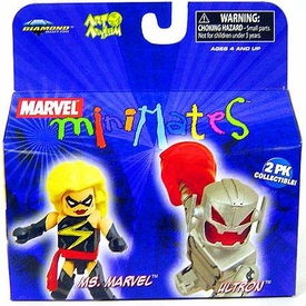 Marvel MiniMates Series 19 Mini Figure 2-Pack Ultron & Ms. Marvel