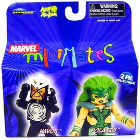 Marvel MiniMates Series 20 Mini Figure 2-Pack Havok & Polaris