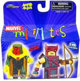 Marvel MiniMates Series 20 Mini Figure 2-Pack Hawkeye & Vision 2.0 [Variant]