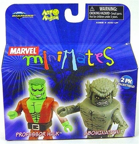 Marvel MiniMates Series 20 Mini Figure 2-Pack Professor Hulk & Abomination