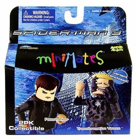Marvel MiniMates Series 17 Spider-Man 3 Mini Figure 2-Pack Peter Parker & Variant Venom