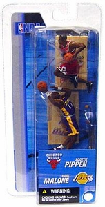 McFarlane Toys NBA 3 Inch Sports Picks Series 2 Mini Figures 2-Pack Scottie Pippen (Chicago Bulls) & Karl Malone (Los Angeles Lakers)