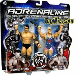 WWE Jakks Pacific Wrestling Adrenaline Series 13 Action Figure 2-Pack Luther Reigns & Kurt Angle