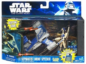 Star Wars 2011 Clone Wars Vehicle & Action Figure Separatist Droid Speeder with Battle Droid BLOWOUT SALE!