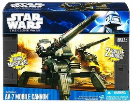 Star Wars 2011 Clone Wars Vehicle Republic AV-7 Mobile Cannon