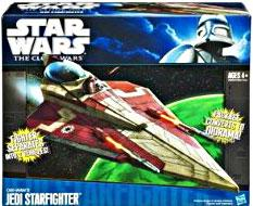 Star Wars 2011 Clone Wars Vehicle Obi Wan's Jedi Starfighter