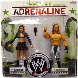 WWE Wrestling Adrenaline Series 33 Action Figure 2-Pack Katie Lee Burchill & Paul Burchill