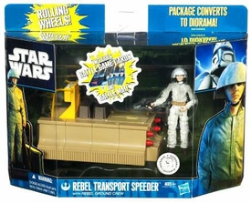 Star Wars 2011 Clone Wars Exclusive Vehicle & Action Figure Rebel Transport Speeder with Rebel Ground Crew