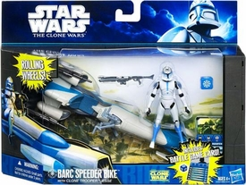 Star Wars 2011 Clone Wars Vehicle & Action Figure Barc Speeder Bike with Clone Trooper Jesse