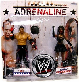 WWE Wrestling Adrenaline Series 29 Action Figure 2-Pack Miz & Layla