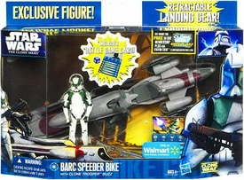Star Wars 2011 Clone Wars Exclusive Vehicle & Action Figure Barc Speeder Bike with Clone Trooper Buzz