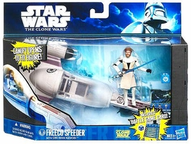 Star Wars 2011 Clone Wars Vehicle & Action Figure Freeco Speeder with Obi -Wan Kenobi BLOWOUT SALE!