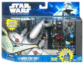 Star Wars 2011 Clone Wars Vehicle & Action Figure Naboo Star Skiff with Anakin Skywalker