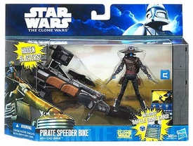 Star Wars 2011 Clone Wars Vehicle & Action Figure Pirate Speeder Bike with Cad Bane