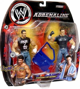 WWE Jakks Pacific Wrestling Adrenaline Series 5 Action Figure 2-Pack Parking Lot Brawl Eddie Guerrero Vs. John Cena BLOWOUT SALE!