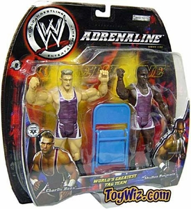 WWE Jakks Pacific Wrestling Adrenaline Series 5 Action Figure 2-Pack World's Greatest Tag Team Charlie Haas & Shelton Benjamin