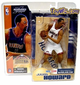 McFarlane Toys NBA Sports Picks Series 3 Action Figure Juwan Howard (Denver Nuggets)  White Jersey Variant