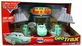 Disney Pixar Cars GeoTrax Playset Flo's V-8 Cafe