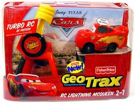 Disney Pixar Cars GeoTrax Turbo R/C Car Lightning McQueen