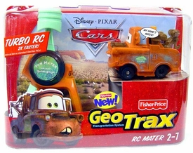 Disney Pixar Cars GeoTrax Turbo R/C Car Mater