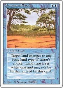 Magic the Gathering Revised Edition Single Card Common Phantasmal Terrain