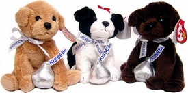 Ty Beanie Baby Set of 3 Hershey Kisses Beanies [Chocolate Kiss, Cookies & Creme & Morsel]