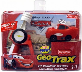 Disney Pixar Cars Geo Trax Turbo R/C Car Sponsorless Lightning McQueen