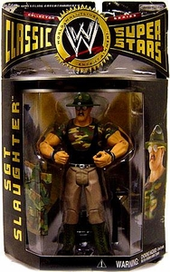WWE Jakks Pacific Wrestling Classic Superstars Series 2 Action Figure Sgt. Slaughter  [Green Hat, Jacket Off Variant]