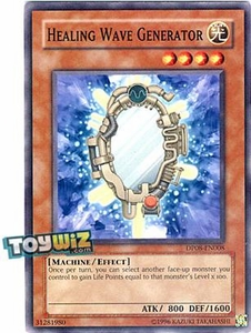 YuGiOh 5D's Duelist Pack Yusei Fudo Single Card Common DP08-EN008 Healing Wave Generator